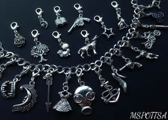 27x Teen Wolf Charm Bracelet Charms Silver Heart Clip Ons Charms Triskelion Moon | Jewelry & Watches, Fashion Jewelry, Charms & Charm Bracelets | eBay!