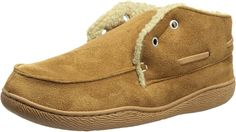 Amazon.com   Dockers Men's Slipper Boot with Warm, Synthetic Sherpa Lining, Tan, 13 XXL   Slippers