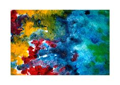 """Zoom a """"Corales de la isla""""  Mixto de látex y acrílico sobre lienzo en madera."""