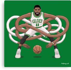 Gnarly Kyrie Celtics Canvas Print