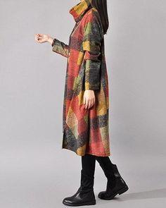 Women cotton loose autumn dress