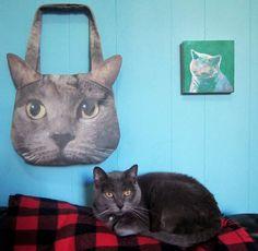 Custom Cat Face Purse