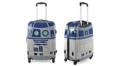 R2-D2, is now in a suitcase