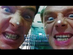 Safety First (Neutron Cream Prank) - Star Trek Into Darkness <- OMG Benedict's reaction!! hahahaha