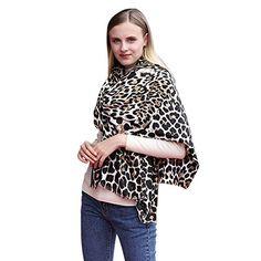iShine Mode Echarpe Léopard Foulard Souple Chaud Hiver Automne Printemps  Echarpe Long Châle Elégant pour Femme edd420dfc4a