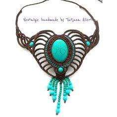 Macrame necklace .. https://www.facebook.com/Nostalgie-Handmade-by-Tatjana-425760884176858/