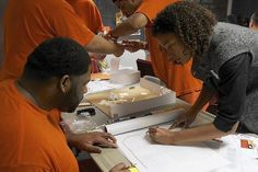 """Inspiring article """"What Kind of Prison Might the Inmates Design?"""" on the restorative justice design workshops that Deanna VanBuren is coordinating nationwide."""