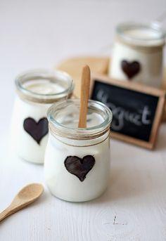 ...super idée pour les pots de yaourt maison