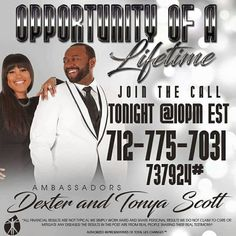 Fred and I will be on here tonight with our and business partners, Dexter & Tonya Scott. Join us tonight to find out what happened after Dexter got laid off and what is helping  Fred and I restore our health, wealth and how we have been able to help others do the same.  www.iamonpurpose.org/services