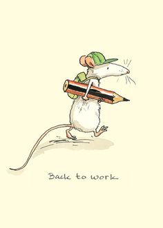 M225 Back to Work by Anita Jeram for Two Bad Mice cards