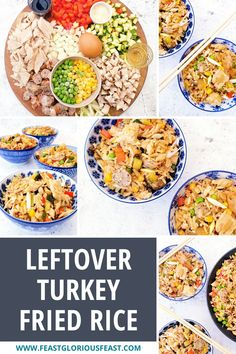 This Leftover Turkey Fried Rice recipe is super versatile. It is perfect to use up those Christmas and Thanksgiving leftovers (I've even snuck in pigs in blankets). But this super easy and flavour packed 20 minute stir fry dish is equally delicious all year round made with leftover roast chicken, beef, pork, shrimp or my favourite - duck! #FeastGloriousFeast Leftovers Recipes, Turkey Recipes, Rice Recipes, Roast Dinner, Sunday Roast, Fried Chicken Wings, Roast Chicken, Roasted Meat, Roasted Turkey