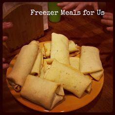 Freezer Meals For Us: Baked Chimichangas by Maggie