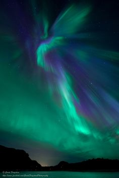 The aurora angel!  Geitvagen, Nordland, Norway.