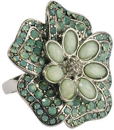 #Forever21                #ring                     #Rhinestoned #Flower #Ring #FOREVER21 #1000049070   Rhinestoned Flower Ring | FOREVER21 - 1000049070                              http://www.seapai.com/product.aspx?PID=95208