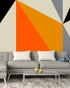 What better way to fulfil the 70's interior trend for 2019, than to decorate with geometric wallpaper? Created by Greg Mably, this 70's design features the most-wanted burnt orange tones that work perfectly with grey tones. Learn more on how to create your statement wall with the new interior trends over on our blog.
