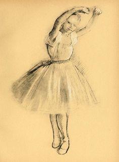 Petite Danseuse drawing, 1875 Edgar Degas