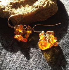 Amber Spring Flower Earrings