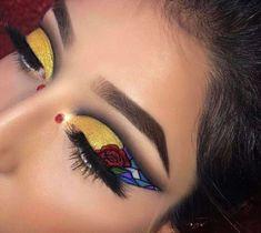 Guess which Disney Princess this is inspired from! ✨ 🌹 ✨ Use Ratet mal, von welcher Disney Pri Disney Eye Makeup, Disney Inspired Makeup, Disney Princess Makeup, Makeup Eye Looks, Eye Makeup Art, Crazy Makeup, Eyeshadow Makeup, Make Up Inspiration, Images Disney