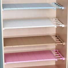 Cheap cabinet holder, Buy Quality shelves cabinets directly from China kitchen rack Suppliers: Adjustable Closet Organizer Storage Shelf Wall Mounted Kitchen Rack Space Saving Wardrobe Decorative Shelves Cabinet Holders Diy Wardrobe, Wardrobe Storage, Closet Storage, Storage Rack, Closet Organization, Bathroom Storage, Storage Shelves, Wall Shelves, Storage Spaces