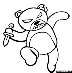 100 Free Halloween Coloring Pages Color In This Picture Of A Scary Evil