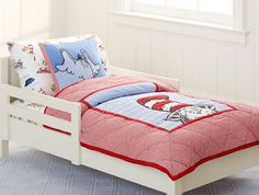 Dr. Seuss bedding set.. Cute if we keep the same theme