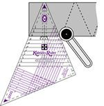 Kaleido-Ruler, companion tool to book, Kaleidoscope ABCs or stand alone, includes instructions