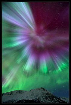 Exploding aurora by Thilo Bubek