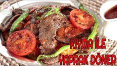 EV YAPIMI MİSLER GİBİ BİR İSKENDER YEMEĞE NE DERSİNİZ😋😋İŞTE KIYMADAN YAPRAK DÖNER TARİFİ💁 - YouTube Turkish Recipes, Feel Good, Beef, Food, Youtube, Cooking, Meat, Essen, Meals