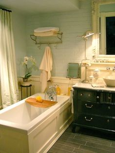 Eclectic Bath french country bathroom Design Ideas, Pictures, Remodel and Decor