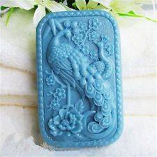 New 3d Peacock Silicone Soap mold Craft Molds DIY Handmade Candle mould