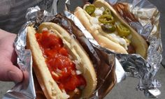 Vegan hot dogs at the frankenstand