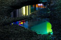 Wet Neon: Magical Reflections In Street Puddles by Slava Semeniuta #photography