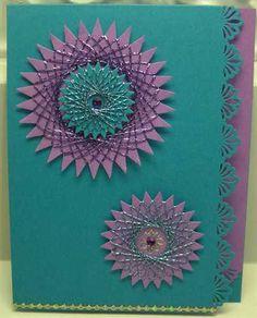 Teal and Lavendar Spirelli Card - ShopHandmade