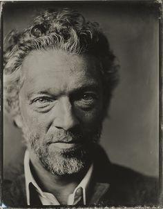 Vincent Cassel portrait ferrotype par Victoria Will, 2015.
