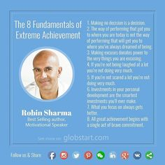 The 8 Fundamentals of Extreme Achievement- by Robin Sharma! Tag someone you wanted to tell this And Follow Us to get more tips and rules for success from the greatest minds of the world.  Check out our Facebook for Lifehacks and business tips. [Link in the bio]  #work #success #business #globstart #entrepreneur #leader #successful #entrepreneurs #startup #leadership #entrepreneurship #ceo #businesswoman #businessman #успех #businessowner #businesstrip #hardworking #entrepreneurlife #startups…