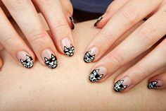 Cat manicure! Perfect for the crazy cat ladies out there…. Myself included :)