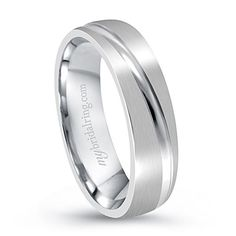 Love with goove cut engagement band with magnificent design in 14k white gold - http://www.mybridalring.com/Mens/groove-cut-white-gold-engagement-band/