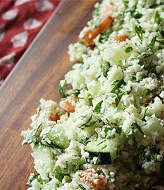 Raw Cauliflower Tabbouleh | Recipes - PureWow