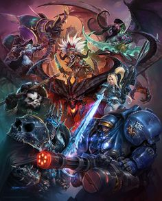 It's finally here!I created this piece last year while working with Creative Development here at Blizzard, for our recently-re-announced Heroes of the Storm (formerly Blizzard All-Stars, for ...