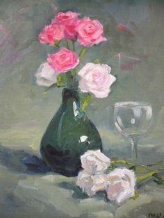 Glass Vase, Painting, Home Decor, Art, Art Background, Decoration Home, Room Decor, Painting Art, Kunst