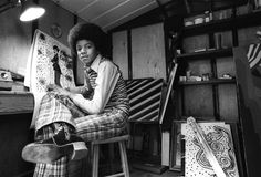 MJ drawing a picture.