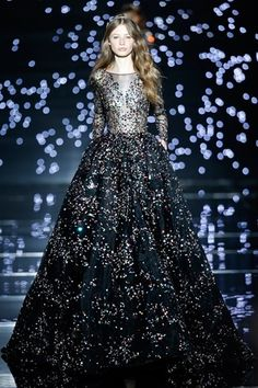 Zuhair Murad Couture Fall 15/16: This gown depicts Zuhair Murad's starry night vision in his collection perfectly! I can see this on the red carpet. Stunner!