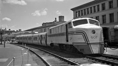 ACF, Providence, Rhode Island, 1950-1955 American Car and Foundry Talgo train on display on track eight at Union Station, Providence, Rhode Island, some time between 1950 and 1955. Photograph by Leo King, © 2016, Center for Railroad Photography and Art. King-01-066-003