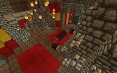 Gryffindor Common Room Minecraft From The Burrow, to Ho...