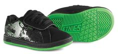 Fader Toddler Metal Mulisha, Black/Green/White etnies Kids toddler shoes
