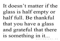 be thankful always!