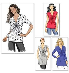 Butterick B5495 - fast and easy gathered front blouse pattern.  Quick to sew, great fit.  A Winner!