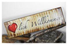 Herzlich Willkommen / Foto auf Holz von DaiSign auf DaWanda.com