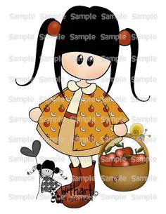 Apples basket Nina dolls 0406 clip art set images for por Withart