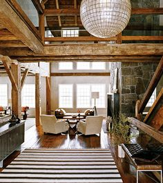 I think I just live in the wrong kind of house - this is the kind of thing I adore!  A mix of open spaces, light, rustic and modern.